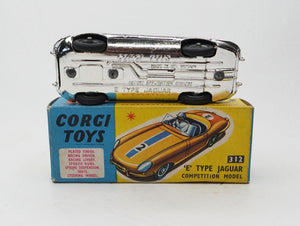 Corgi Toys 312 Competition E type Near Mint/Boxed (C.C)