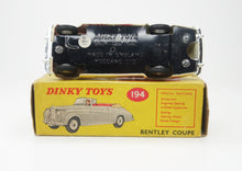 Dinky Toys 194 'South African' Bentley Coupe Very Near Mint/Boxed