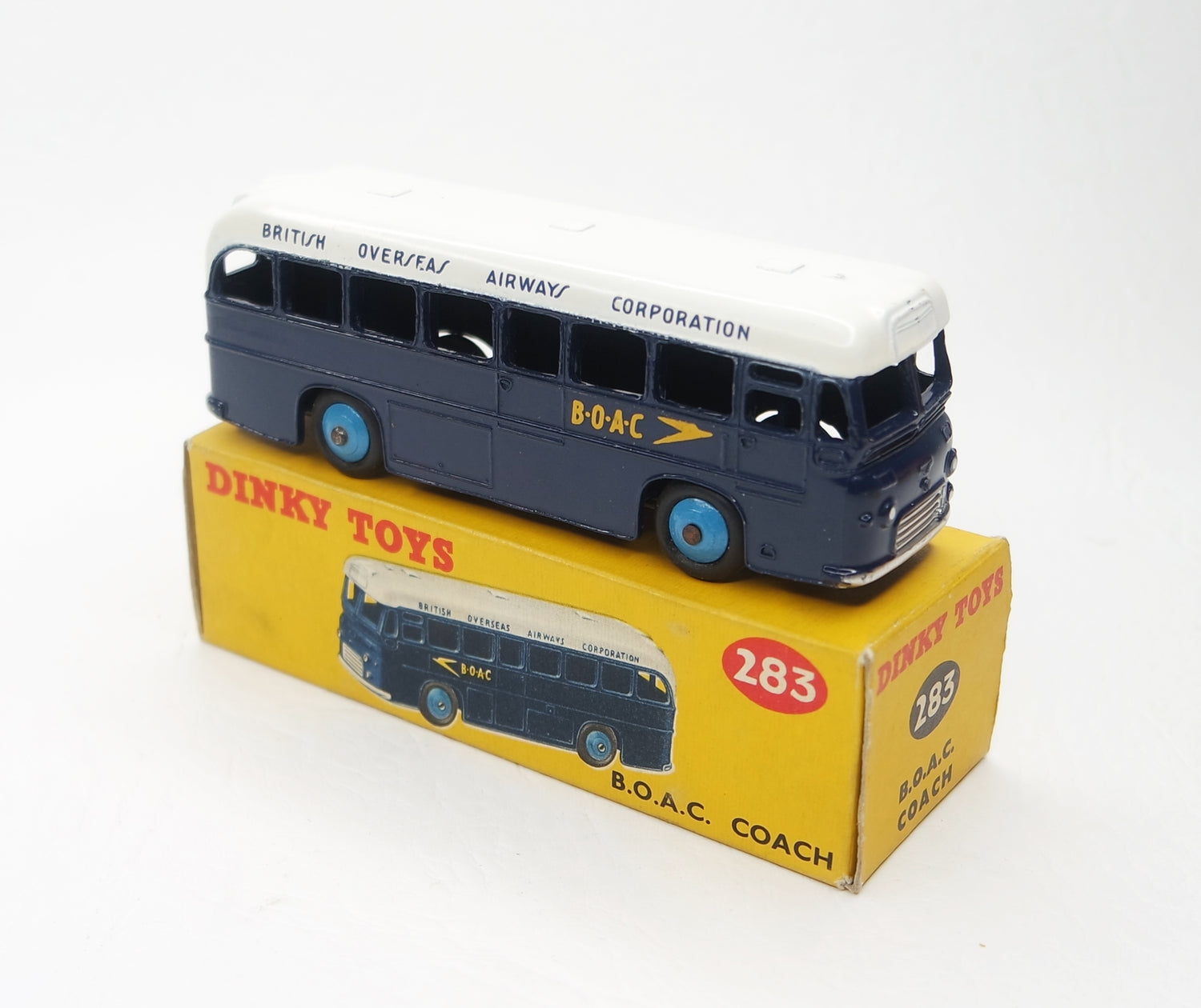 Dinky Toys 283 B.O.A.C Coach Virtually Mint/Boxed (C.C)
