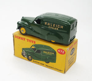 "Dinky Toys 472 Austin Van ""Raleigh Cycles"" Very Near Mint/Boxed (C.C)."