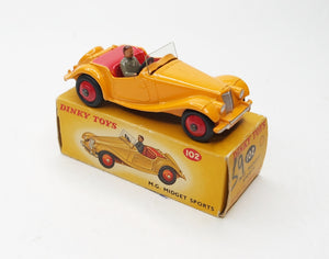 Dinky Toys 102 M.G Midget Sports Virtually Mint/Boxed (C.C)