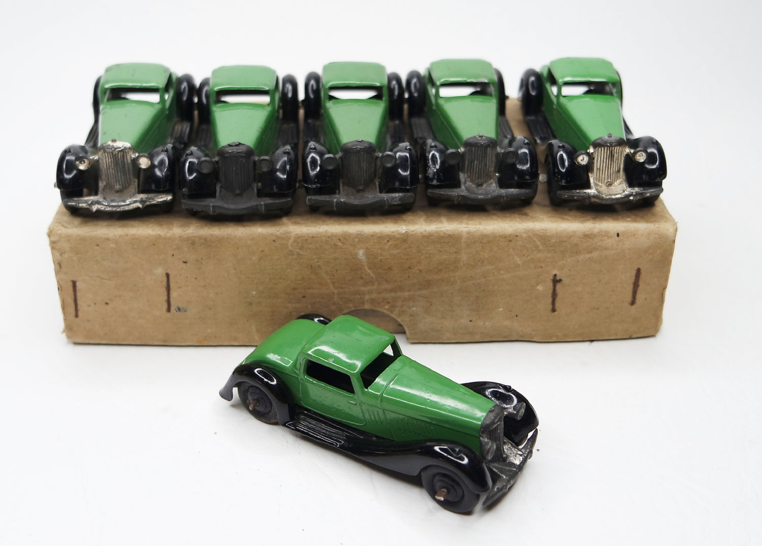 Dinky Toys 36b Bentley 2 seater Trade Set Near Mint/Boxed (L.C)