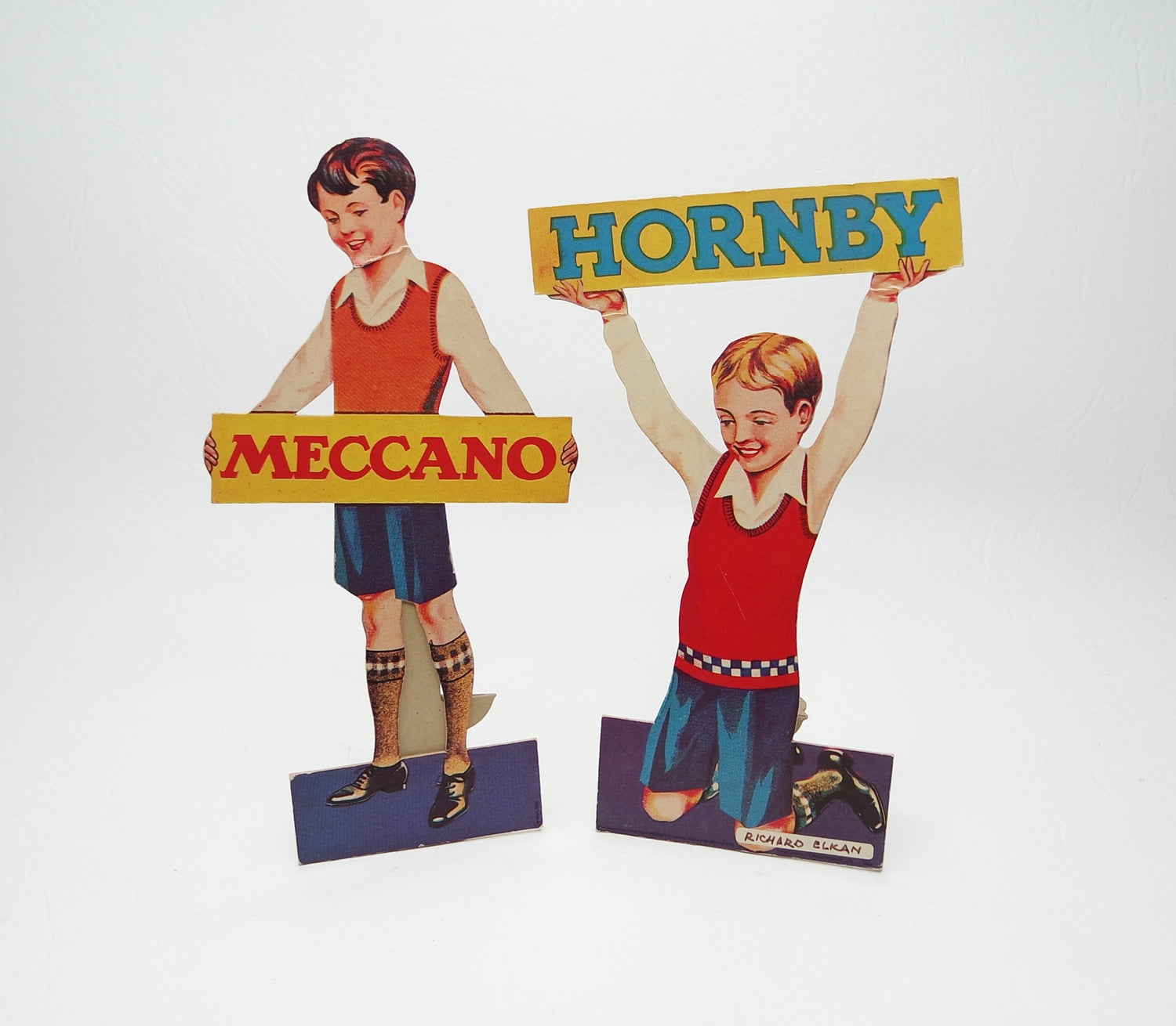 Child Meccano & Hornby Shop Display Advertisements