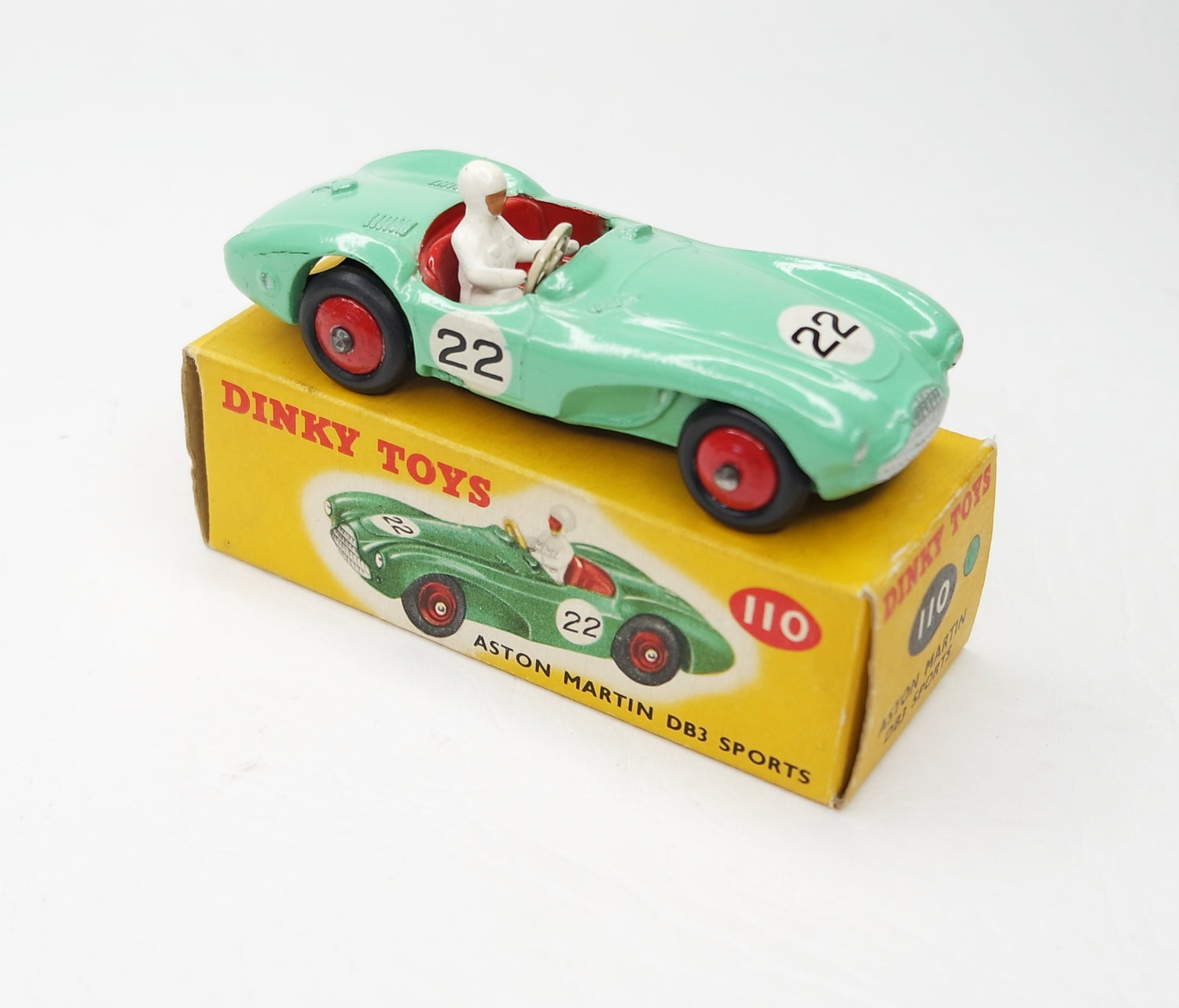 Dinky Toys 110 Aston Martin DB3 Virtually Mint/Boxed (C.C)