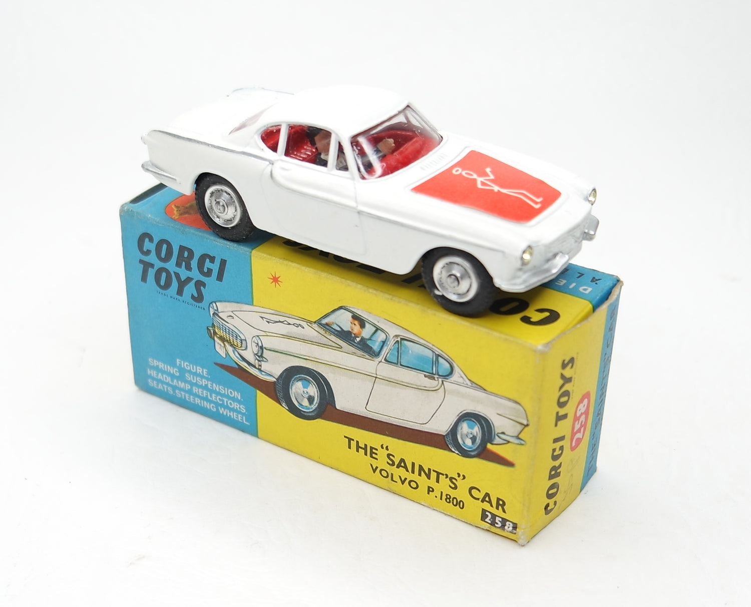 Corgi Toys 258 'Saint' P1800 Very Near Mint/Boxed 2/2