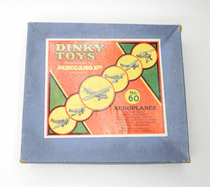 Dinky Toys Gift Set 60 Aeroplane 2nd Issue Near Mint/Boxed (L.C)