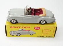 Dinky Toys 194 Bentley Coupe Very Near Mint/Boxed (C.C).