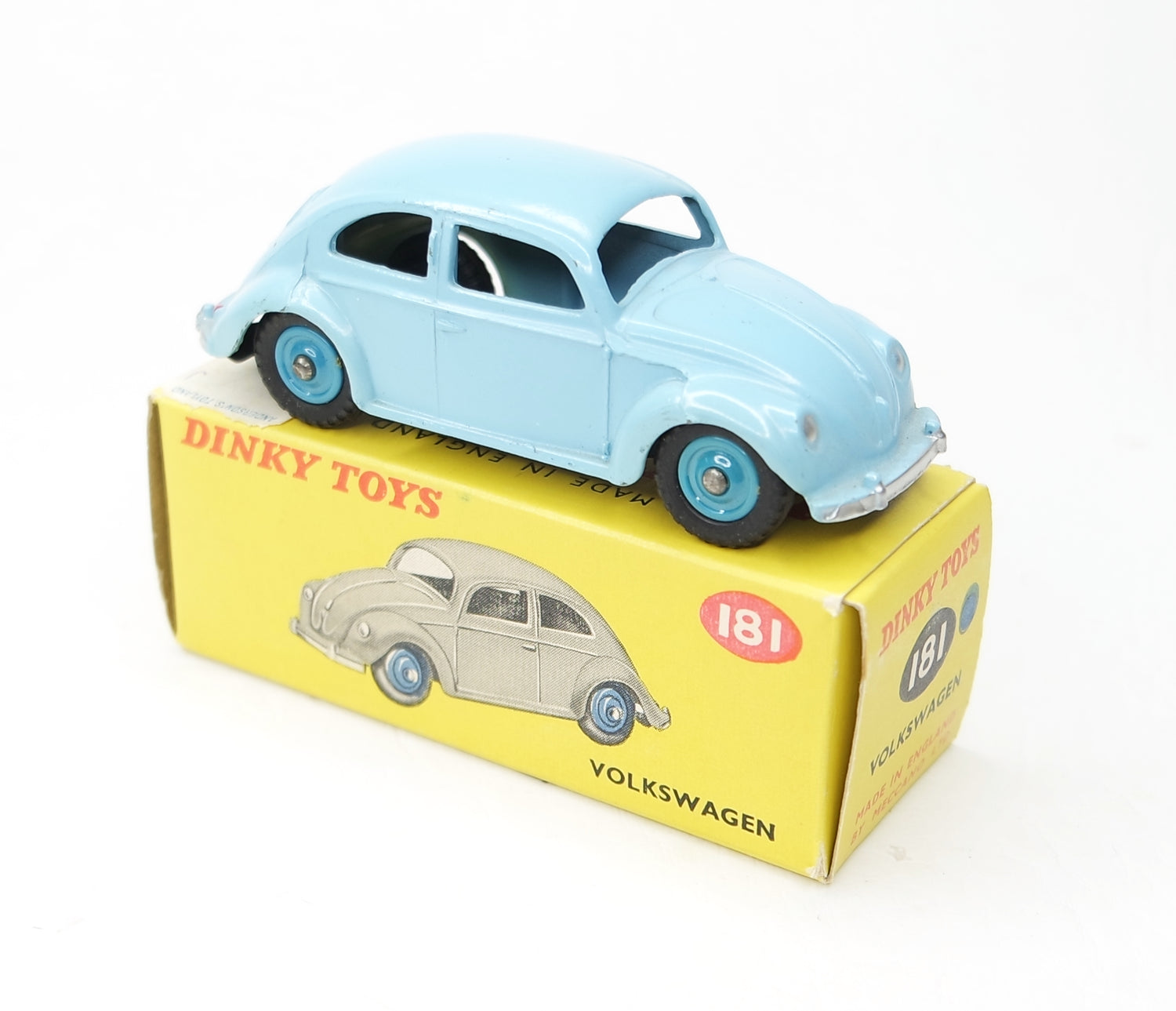 Dinky toys 181 VW Beetle Virtually Mint/Boxed (Plastic hubs).