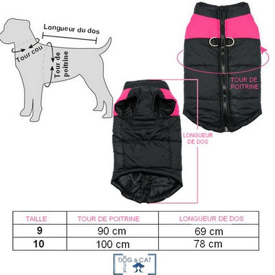 MANTEAU POUR GRAND CHIEN - Dog & Cat Boutique