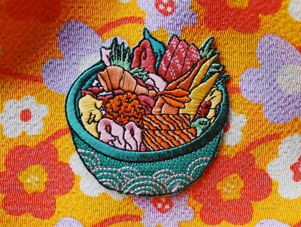 Chirashi bowl Iron On Patch