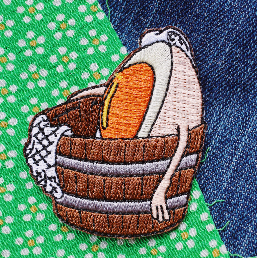 Onsen Egg Iron On Patch