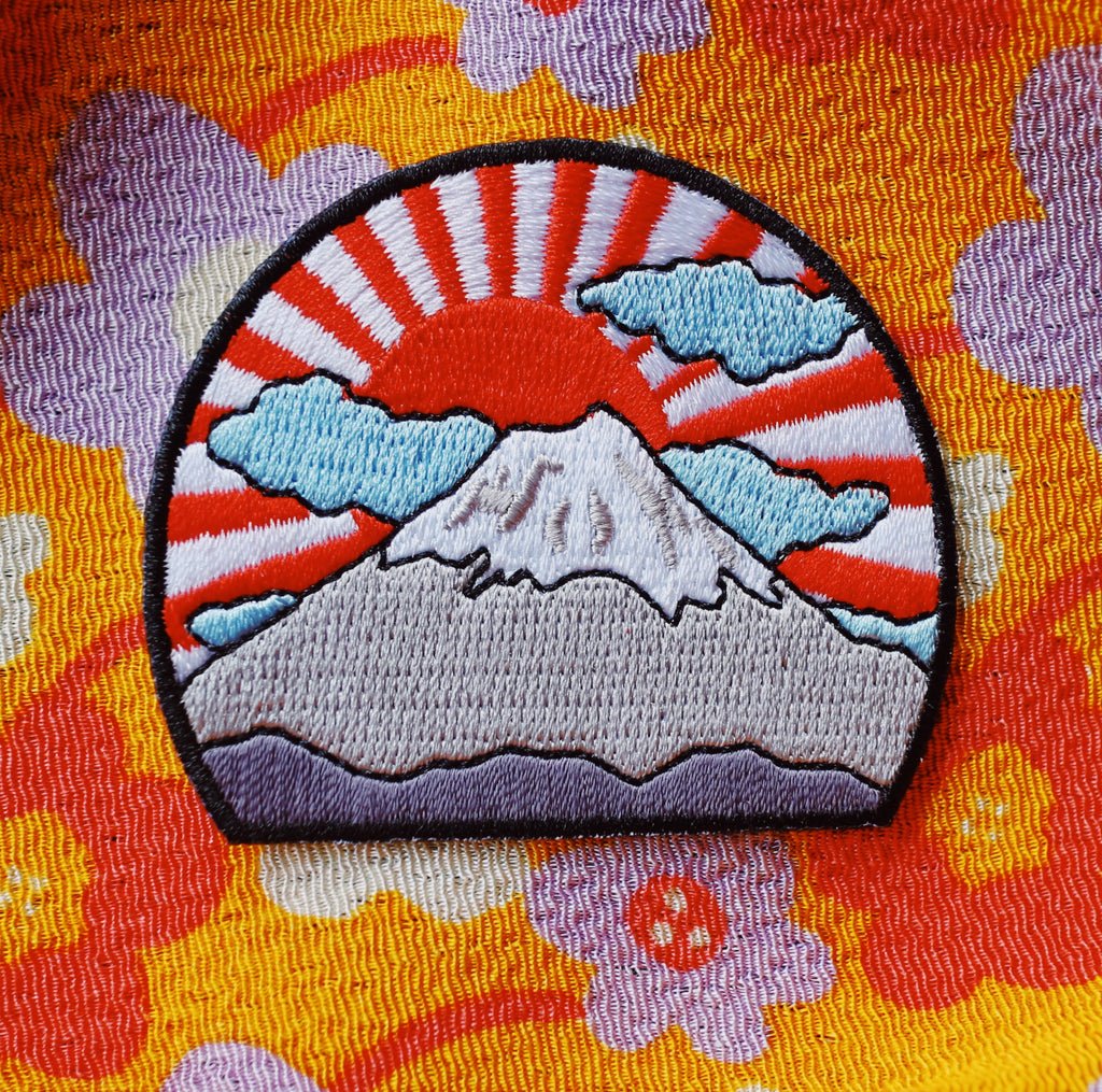 Mt Fuji Iron On Patch