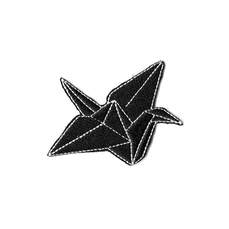 Origami Crane Iron On Patch