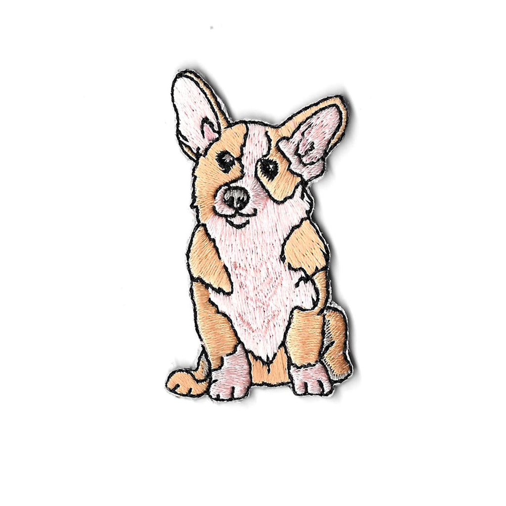 Collie the Corgi Iron On Patch