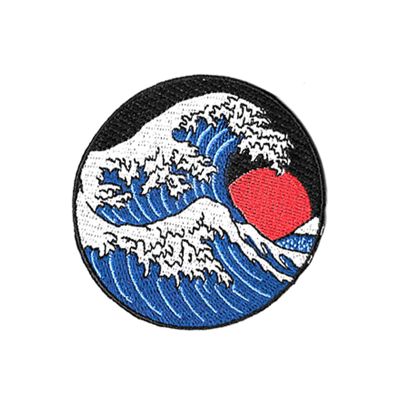 The Great Wave Iron On Patch