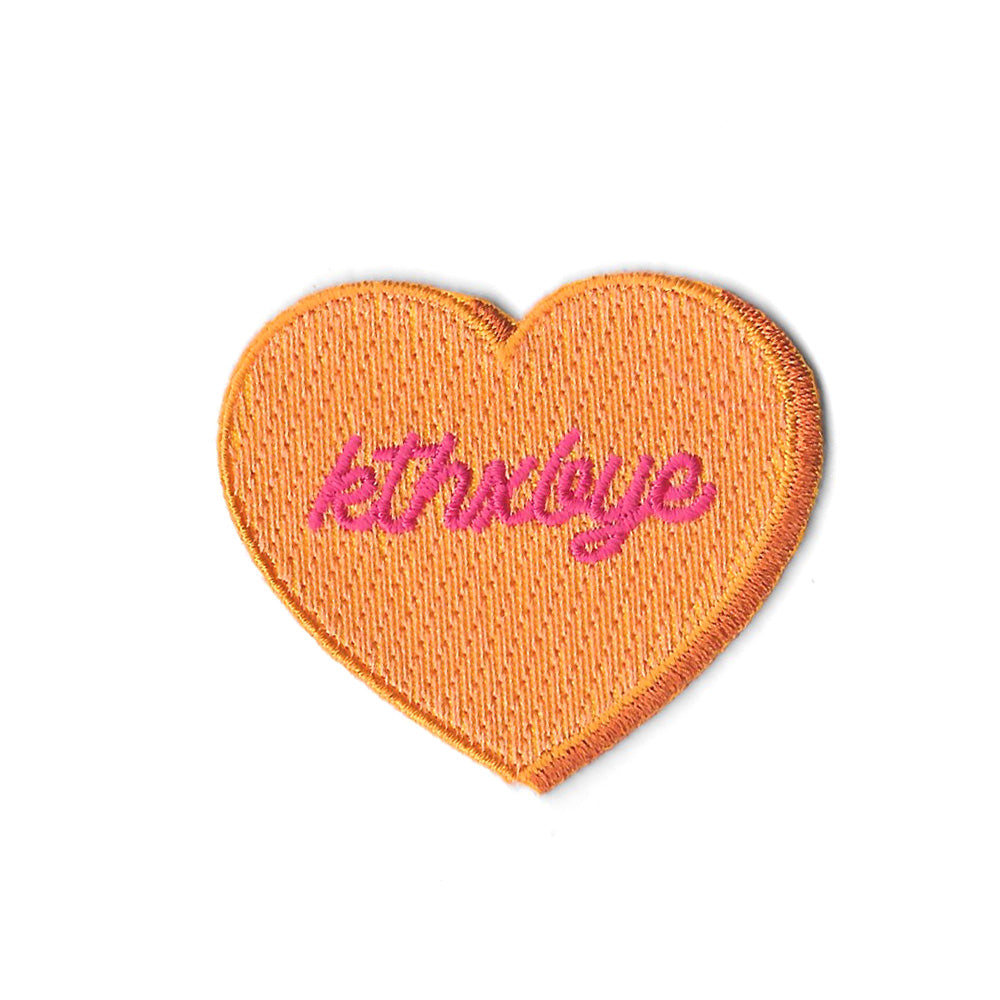 Kthxbye Candy Heart Iron On Patch