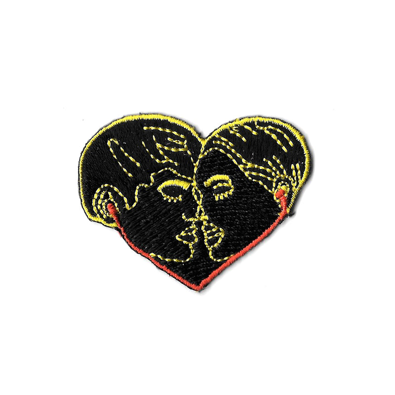 Lovers over Music Iron On Patch