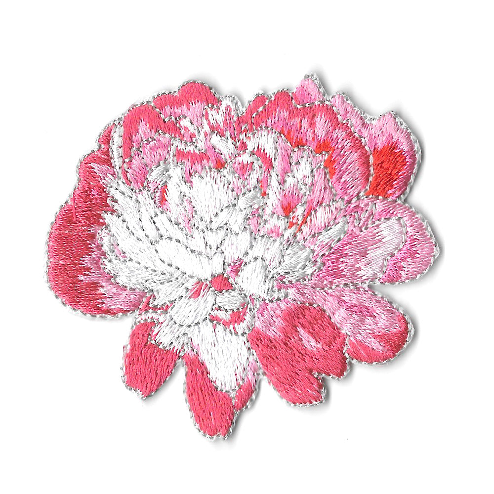 Peony Iron On Patch