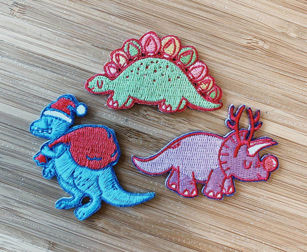 Pew Pew x Cloudhedd: Santa-rex Iron On Patch