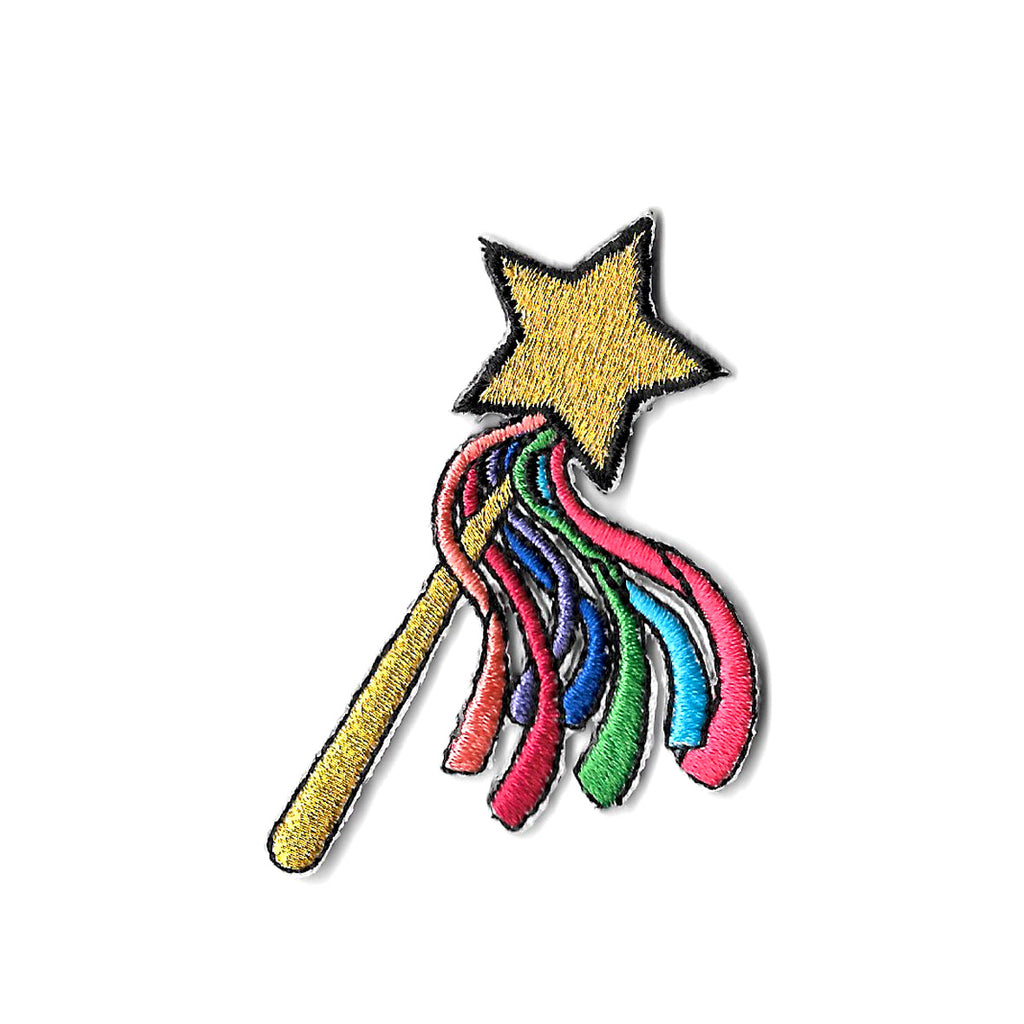 Rainbow Wand Iron On Patch