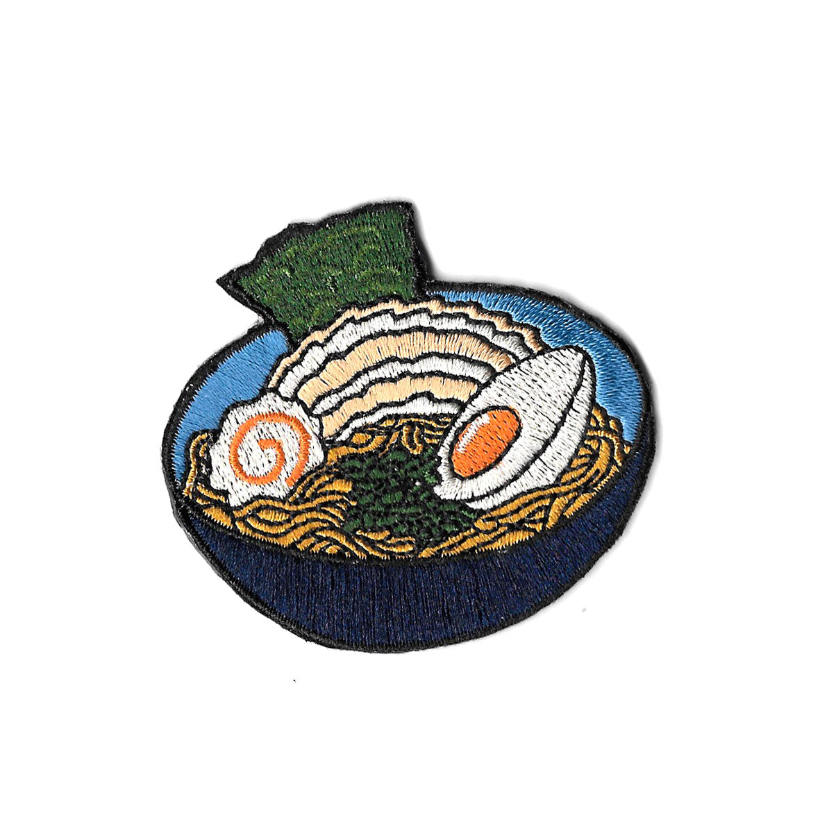 Limited Edition Patches Marowak Shiny Ramen Patch Custom Patches Cubone Eating Ramen Pokemon Embroidered Custom Iron-On or Sew-On Patch