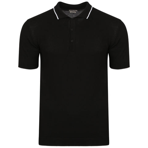 Black Knitted Benson Polo