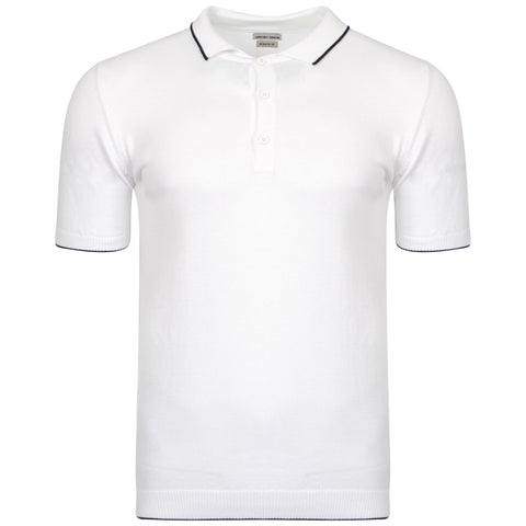 White Knitted Benson Polo