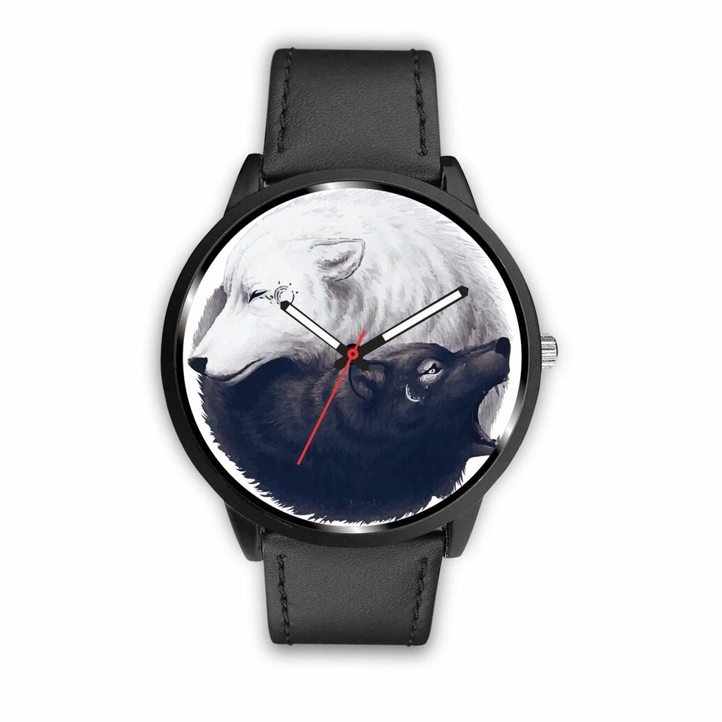 Black and White Wolf Watch.