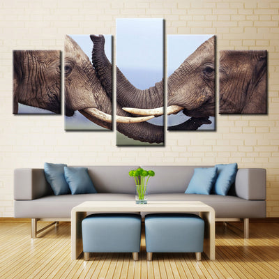 Elephant Five Pieces Canvas