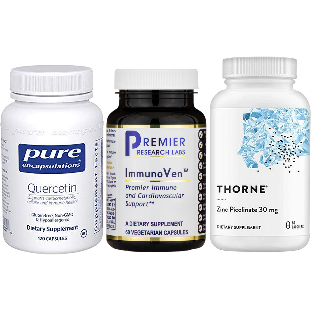 "Quercetin, ImmunoVen, and Zinc <span class=""teb"">(Save 10% by Bundling)</span>"