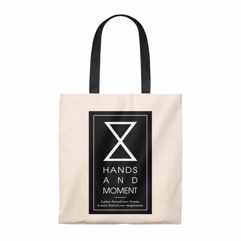 HANDS AND MOMENT TOTE BAG