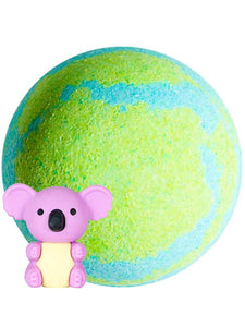 Earth bath bomb for kids with toy inside UK