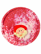 Christmas bath bomb for kids with Santa decoration