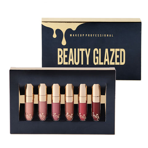 Beauty Glazed Matte Lipstick - 6pcs