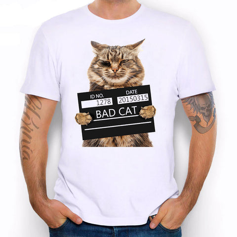 Bad Cat Police Department T-Shirt