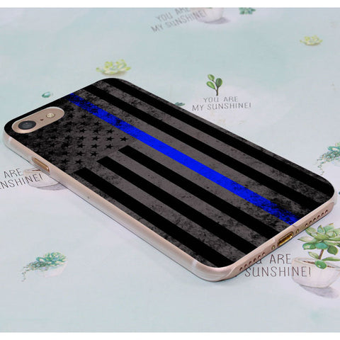 Thin Blue Line Transparent iPhone Case
