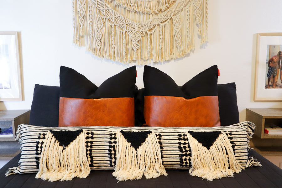 Black and White Bohemian Bedroom Transformation!