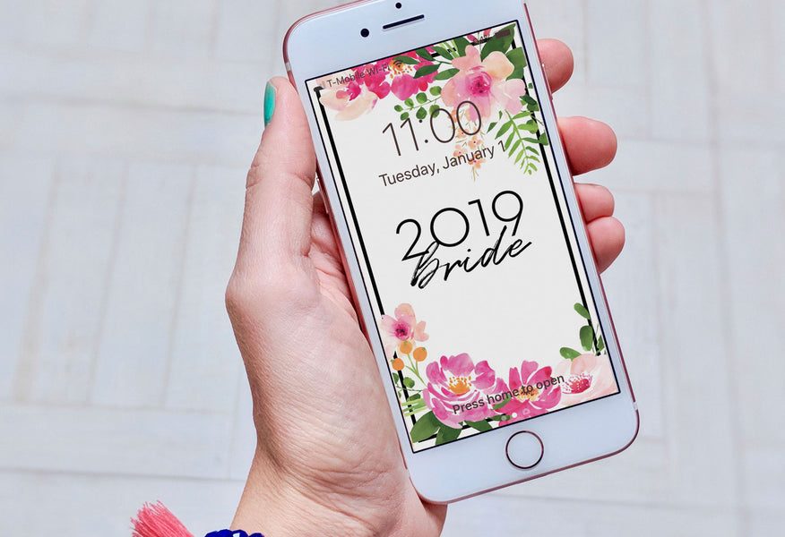 2019 Wedding Ideas + Month-Of Checklist (and a free phone wallpaper!)