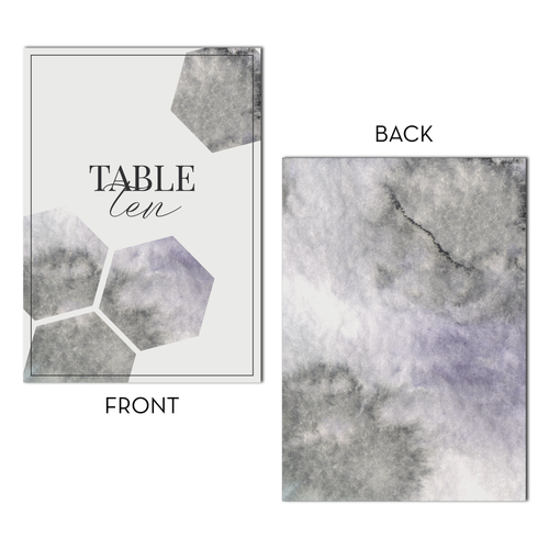 Wedding Table Numbers | Geometric Marble Digital Table Number Set (1-20)