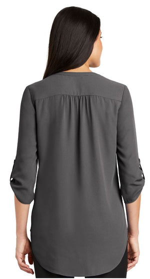 Ladies 3/4-Sleeve Tunic Blouse SMLW701
