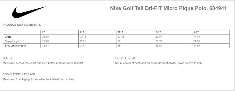 Nike Dri-Fit Pique Polo (Tall Sizes Only) - SM604941