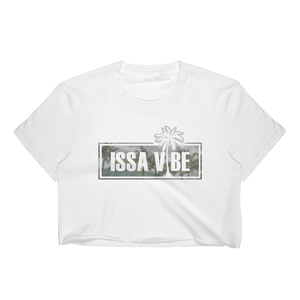Issa Vibe Palm Trees Crop Top
