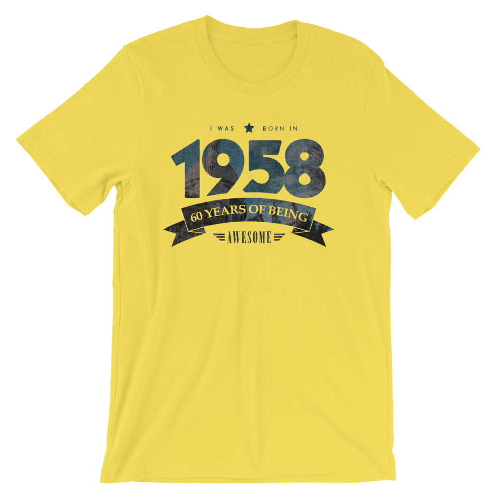 Born in 1958. 60 Years of Being Awesome T-Shirt