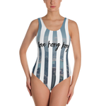 I Love Hong Kong Stripe Swimsuit