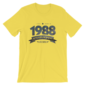 Born in 1988. 30 Years of Being Awesome T-Shirt
