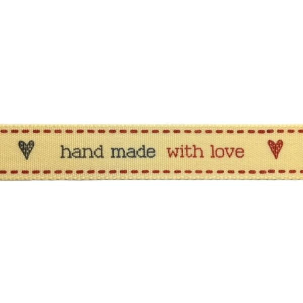 "Nastro ""Hand Made with Love"""