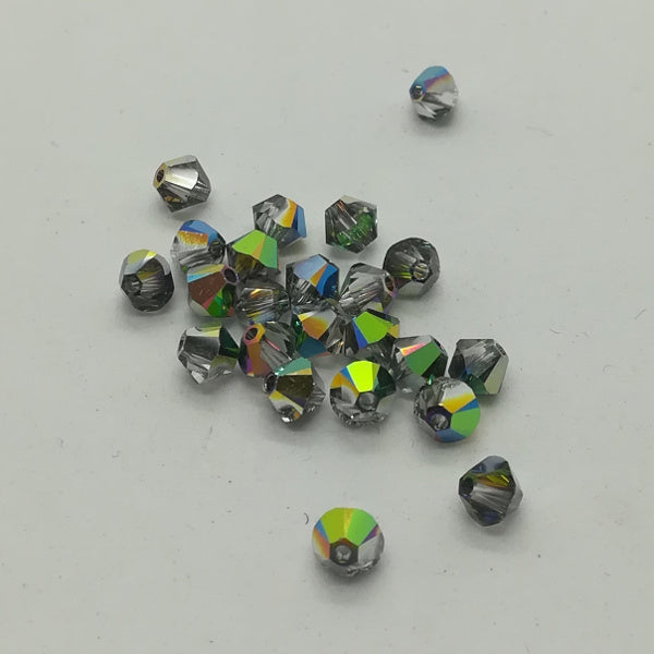 Swarovski bi-cono 4 mm CRISTAL VITRAIL MEDIUM