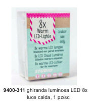 Ghirlanda Luminosa a LED - 8 luci