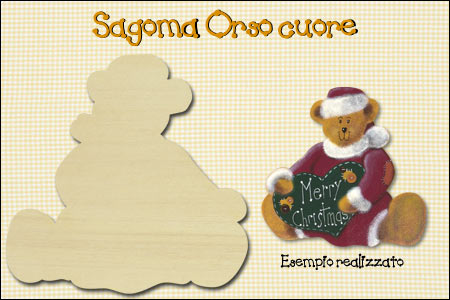 Sagoma Country Painting - Orso cuore