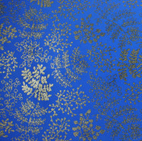 Fommy Fantasia Glitter Leaf - Blue/Gold